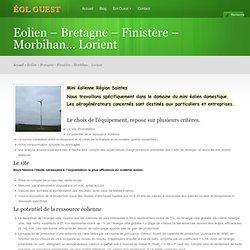 Petite éolienne Bretagne Morbihan Lorient Vannes 56