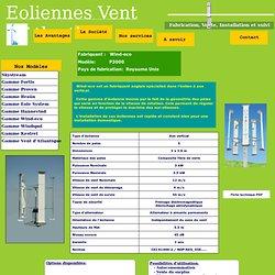 Eolienne Wind-eco P3000 distribuée par la société Vent d'Atlantique