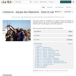 L'éolienne 5v - équipe des éléphants Wiki Low-Tech Lab