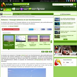 Éolienne : l'énergie éolienne et son fonctionnement