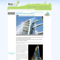 Eoliennes entre deux tours à Bahreïn