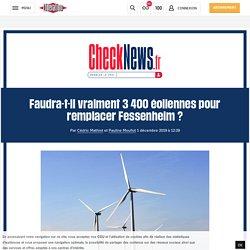 Faudra-t-il vraiment 3400 éoliennes pour remplacer Fessenheim?