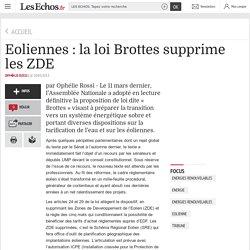 Eoliennes : la loi Brottes supprime les ZDE