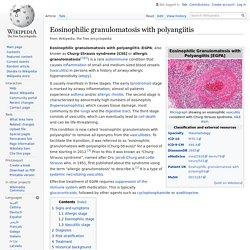 Eosinophilic granulomatosis with polyangiitis - Wikipedia