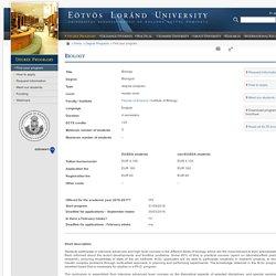 Eötvös Loránd University - Biology