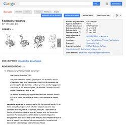 Brevet EP1716833B1 - Fauteuils roulants - GoogleBrevets