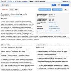 Patente EP2150127A2 - Procede de traitement de la propolis - Google Patentes