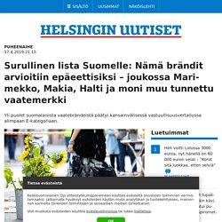 Surullinen lista Suomelle: Nämä brändit arvioitiin epäeettisiksi – joukossa Marimekko, Makia, Halti ja moni muu tunnettu vaatemerkki