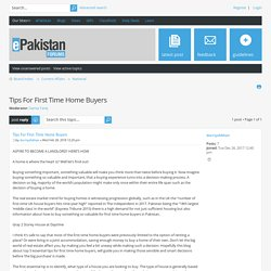 View topic - Tips For First Time Home Buyers