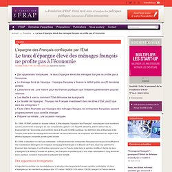 Le taux d'épargne élevé des ménages français ne profite pas à l'économie