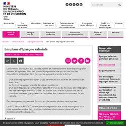 PEE, PERCO : les plans d'épargne salariale en détails