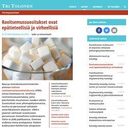Ravitsemussuositukset ovat epätieteellisiä ja virheellisiä - Terveysuutiset - Tohtori Tolonen