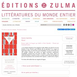 Épépé - Editions Zulma