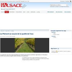 Le Piémont se soucie de la qualité de l'eau