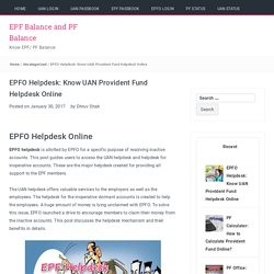 EPFO Helpdesk: Know UAN Provident Fund Helpdesk Online