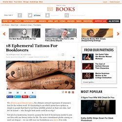 18 Ephemeral Tattoos For Booklovers