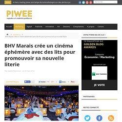 BHV Marais crée un cinéma éphémère avec des lits pour promouvoir sa nouvelle literie