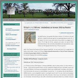 éphéméride de février 1912 en France