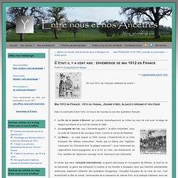 éphéméride de mai 1912 en France