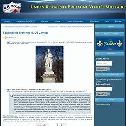 Site de l'Union Royaliste Bretagne Vendée Militaire