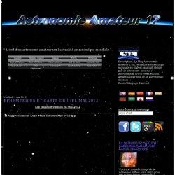 EPHEMERIDES ET CARTE DU CIEL MAI 2012