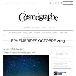 Ephémérides Octobre 2013