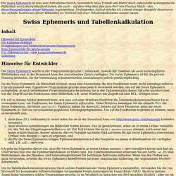 Swiss Ephemeris und Tabellenkalkulation