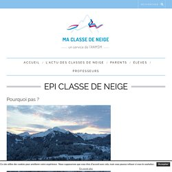 EPI classe de neige - Ma classe de neige