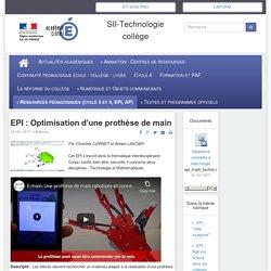 EPI : Optimisation d'une prothèse de main