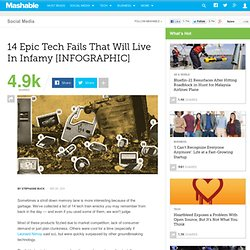 14 Epic Tech Fails That Will Live In Infamy [INFOGRAPHIC]