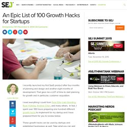 An Epic List of 100 Growth Hacks for Startups
