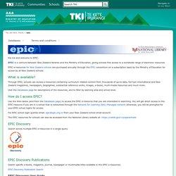 epic / Homepage - Te Kete Ipurangi (TKI)