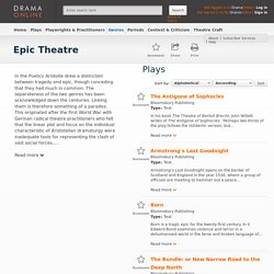Epic Theatre - Drama Online