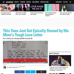 Mom Gives Tough Love Letter to Teen Son - Estella Havisham