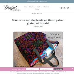 Coudre un sac d'épicerie en tissu: patron gratuit et tutoriel – Bonjour Handmade