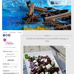 Salade de betteraves aux lentilles beluga et feta