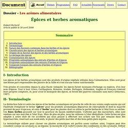 Epices et herbes aromatiques