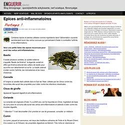 Epices anti-inflammatoire pour la cuisine