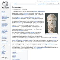 Epicureanism