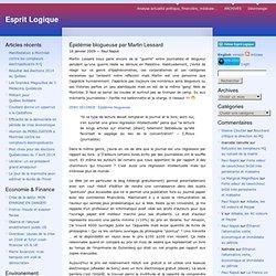 Épidémie blogueuse par Martin Lessard « Esprit Logique