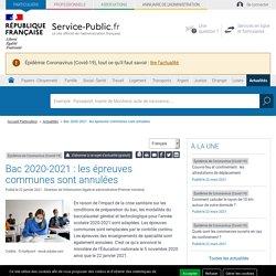 Épidémie de Coronavirus (Covid-19) -Bac 2020-2021: les épreuves communes sont annulées