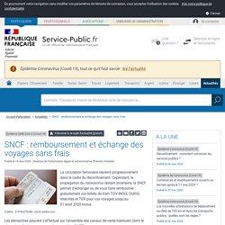 Épidémie SARS-CoV-2 (Covid-19) -SNCF : remboursement et échange des voyages sans frais