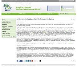 ECDC 23/03/16 Epidemiological update: New Ebola cluster in Guinea