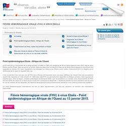 Point épidémiologique Ebola - Afrique de l'Ouest / Fièvre hémorragique virale (FHV) à virus Ebola