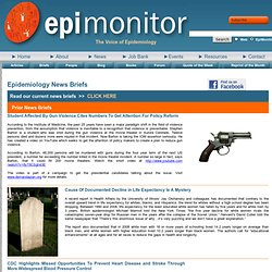 Epidemiology Monitor - News Briefs
