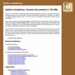 EpiDoc Guidelines