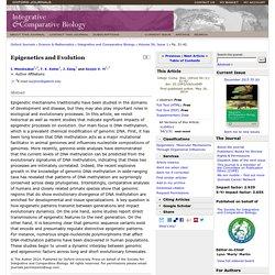 Epigenetics and Evolution
