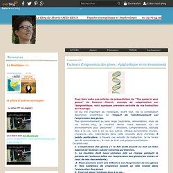 Facteurs d'expression des gènes : épigènétique et environnement - Psycho-énergétique et sophrologie