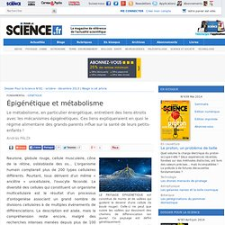 Article - Épigénétique et métabolisme