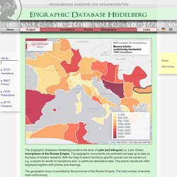 Home - Epigraphic Database Heidelberg
